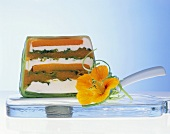 Vegetable and soft cheese terrine