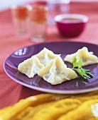 Manti (Dumplings with lamb filling, Turkey)