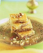 Yogurt Tatlisi (Turkish yoghurt and semolina slices)
