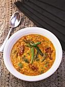 Yellow lentil curry, Maharashtra, India