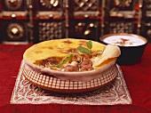 Lucknowi Biryani (Reisgericht mit Dumpukh-Garmethode, Indien)