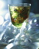 Oysters in herb jelly for Christmas
