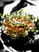 Carrots and peas in aspic