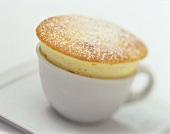 Quark soufflé in a coffee cup