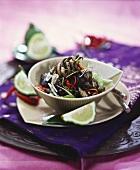 Pla Meuk Pat (Black fried squid, Thailand)