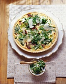 Whole bean tart with Parmesan