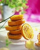 Grilled orange slices