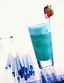 Blue Sky: cocktail made with non-alcoholic Blue Curaçao