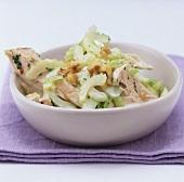 Chicken, celery and walnut salad