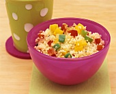 Couscous with diced peppers