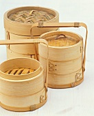 Steaming baskets of various types