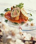 Veal roulades with almond stuffing