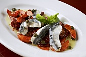 Beetroot and apricot salad with sardines