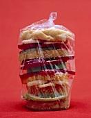 Fruit burgers in a plastic bag