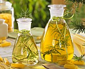 Rosemary oil and rosemary vinegar