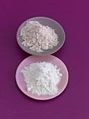 Wheat flour and wholemeal flour