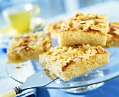 Butter cake with flaked almonds