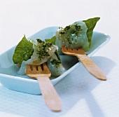 Raw fish with herb vinaigrette