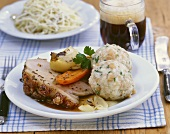 Roast pork with bread dumplings
