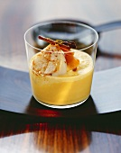 Pumpkin soup with fried scallops