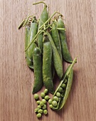 Several sugar snap peas