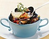 Zuppa di cozze (mussels with vegetables), Apulia, Italy