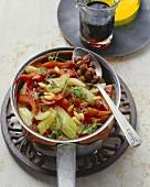 Peperoni e sedani in umido (Peppers and celery)