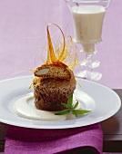Sformato di cantuccini (Cantuccini dessert with Moscato zabaglione)