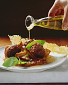 Cipollata con le polpettine (Onions with lamb meatballs)