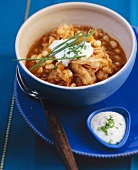 Bean stew with sauerkraut