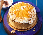 Quick orange cake with mascarpone cream