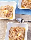 Buckwheat porridge with honey and cinnamon