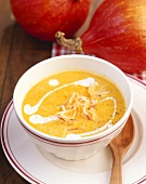 Pumpkin and apple soup with ginger