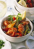 Fish and pepper stew