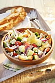 Bread and vegetable salad
