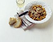 Gnocchi ripieni ai finferli (Stuffed gnocchi with mushrooms)