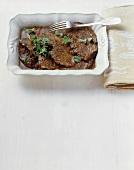 Pasticciata alla Cagliostro (Braised beef)