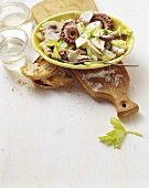 Insalata di polipo (Octopus salad with apples and celery)