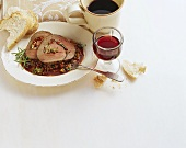 Manzo arrotolato (rolled beef roast), Campania, Italy