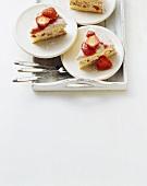 Torta di fragole (strawberry cake), Campania, Italy