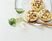Sfincione di Caltanisetta (Small cheese pizzas, Italy)