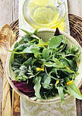 Insalata die erbe selvatiche (Mixed wild herb salad)