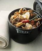 Zuppa di vongole veraci (Clam stew, Italy)