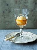 Mandarin sorbet with liqueur
