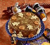 A pumpkin cake for Halloween