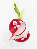 Radish with Maldon salt
