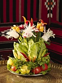 An arrangement of vegetables (table decoration)