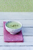 Chilled cucumber soup with pepper