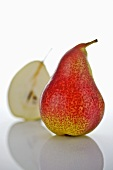 One whole pear and half a pear
