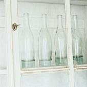 Bottles in a cabinet